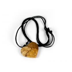 Přívěšek na krk - malé srdce z Palo Santo dřeva - Peru - 03