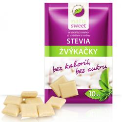 Žvýkačka se stevií, 10 ks