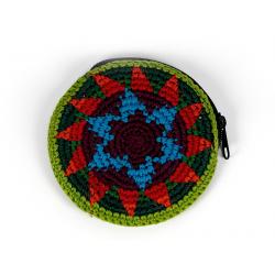 Peněženka - kulatá, háčkovaná (Guatemala) - 2