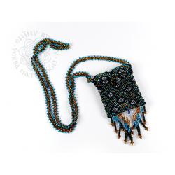 Taštička na krk z korálků - Guatemala - 01