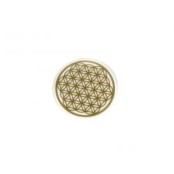 Květ života – nálepka zlatá průhledná – 3,14 cm