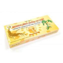 Ženšenový extrakt s ginkgem bilobou, 10 x 10 ml (ampule)