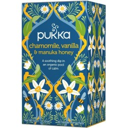 Pukka čaj Heřmánek s vanilkou a manukou, 20 sáčků