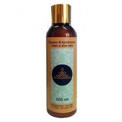 Šampon & kondicioner neem a aloe vera, 200 ml