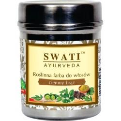 SWATI AYURVEDA Tmavě hnědá henna, 100 % přírodní (exp. 10/2019)