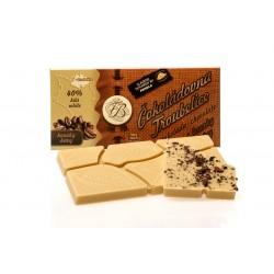 Čokoláda bílá 40% s KÁVOVÝMI ZRNY, 45g