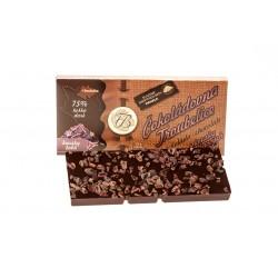 Čokoláda hořká75% s kousky kakaových bobů, 45 g