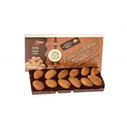 Čokoláda hořká75% s mandlemi, 55 g