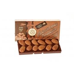 Čokoláda mléčná 51% s mandlemi, 55 g