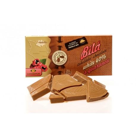 Čokoláda bílá 40% s GUARANOU, 45g