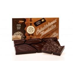 Čokoláda hořká 75% s CHIA SEMÍNKY, 45g
