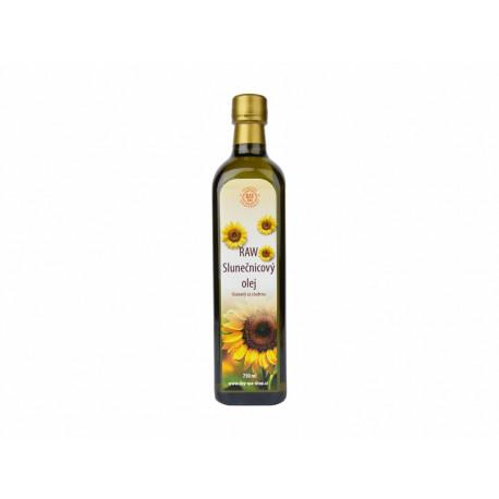 RAW Slunečnicový olej 0,75l ve skle (EXP 3/20)