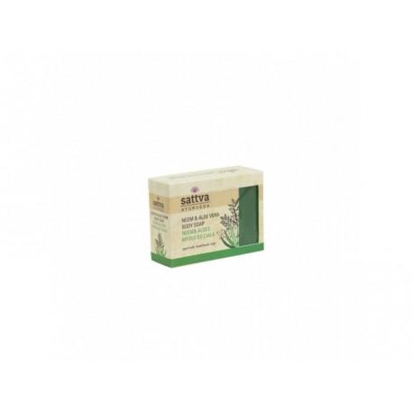 SATTVA mýdlo Neem a Aloe vera, 125 g