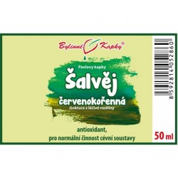 Šalvěj červenokořenná - bylinné kapky (tinktura) 50ml