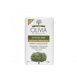 OLIVIA Přírodní Olivové mýdlo s Olivovým květem 115 g