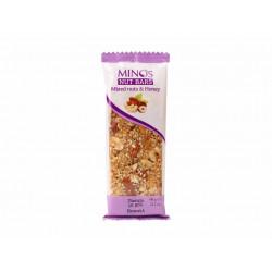 MINOS Ořechová tyčinka - Mix ořechů a med, 60 g