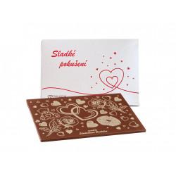 Čokoláda Sladké pokušení -bílá perleť, 120 g, Čokoládovna Troubelice