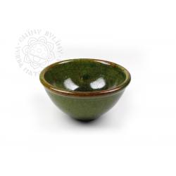 Kadidelnice keramická /miska na kužílky/ zelená RAKU